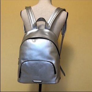 NWT Kendal & Kylie Silver Backpack